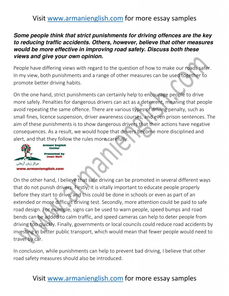 essay points on road safety Road safety essay : some points are mentioned below proving the fact that why road safety is so important for kids and children: children are children.