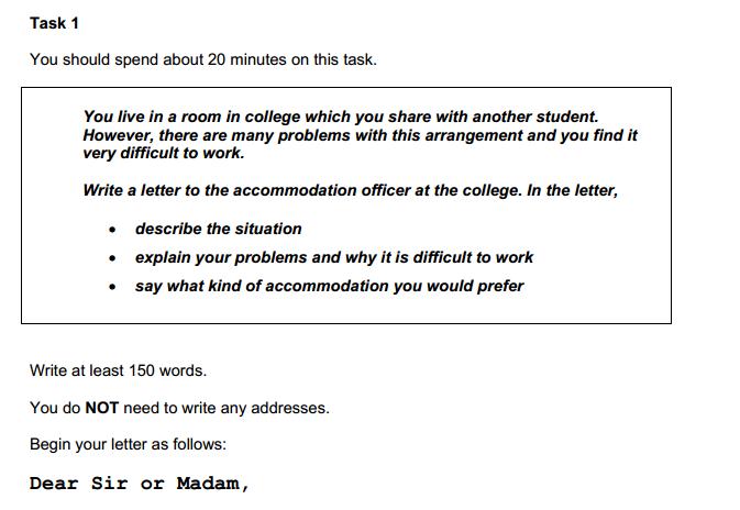 ielts task 1 question formal letter